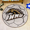 Soccer Ball Rug - Western Michigan University