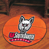 Basketball Rug - Univ. of South Dakota, Vermillion