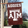 "Applique Banner Flag - 44"" x 28"" - Texas A & M"