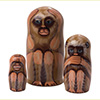 "No Evil Monkeys Nesting Doll - 4"" w/ 3 Pieces"