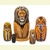 "Wild Cats Nesting Doll - 6"" w/ 5 Pieces"