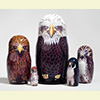 "Raptor Nesting Doll - 6"" w/ 5 Pieces"