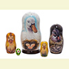 "Duck Nesting Doll - 5"" w/ 5 Pieces"