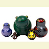 "Rainforest Frogs Nesting Doll - 4"" w/ 5 Pieces"