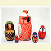 "Parrot Nesting Doll - 6"" w/ 5 Pieces"