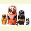 "Alley Cats Nesting Doll - 4"" w/ 5 Pieces"