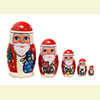 "Father Frost Nesting Doll - 4"" w/ 5 Pieces"