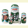 "Irish Santa Nesting Doll - 5"" w/ 5 Pieces"