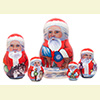 "Yukon Santa Nesting Doll - 5"" w/ 5 Pieces"