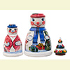 "Snowman Nesting Doll - 4"" w/ 3 Pieces"