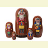 "Nutcracker Soldier Nesting Doll - 6"" w/ 5 Pieces"