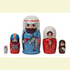 "Baby Jesus Nesting Doll - 4"" w/ 5 Pieces"