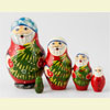 "Santa Nesting Doll - 3"" w/ 5 Pieces"
