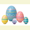 "Nesting Easter Eggs - 4"" w/ 5 Pieces"