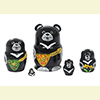 Mini Bear Nesting Dolls w/ 5 Pieces - Assorted Designs