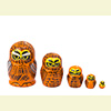 Mini Bird Nesting Dolls w/ 5 Pieces - Assorted Designs