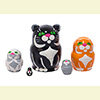 Mini Cat Nesting Dolls w/ 5 Pieces - Assorted Designs
