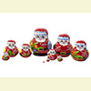 Mini Christmas Nesting Doll w/ 10 Pieces - Assorted Designs