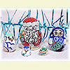 Mini Christmas Nesting Doll w/ 5 Pieces - Assorted Designs