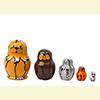 Mini Dog Nesting Dolls w/ 5 Pieces - Assorted Designs
