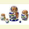 Mini Matryoshka Nesting Dolls w/ 5 Pieces - Assorted Designs
