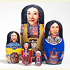 "Native American Princesses Nesting Doll - 5"" w/ 5 Pieces"