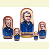 "Union Generals Nesting Doll - 6"" w/ 5 Pieces"