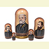 "Confederate Generals Nesting Doll - 6"" w/ 5 Pieces"