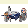 "Space Shuttle Nesting Doll - 5"" w/ 5 Pieces"