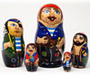 "Pirate Nesting Doll - 6.25"" w/ 5 Pieces"