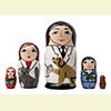 "Veterinarian Nesting Doll - 5"" w/ 5 Pieces"