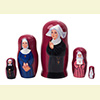 "Nun Nesting Doll - 4"" w/ 5 Pieces"