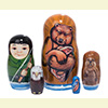 "Fishing Adventure Nesting Doll - 4"" w/ 5 Pieces"