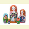 "Cinderella Nesting Doll - 6"" w/ 5 Pieces"