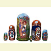 "Red Riding Hood Nesting Doll - 5"" w/ 6 Piece"