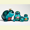 "The Frog Prince Nesting Doll - 4"" w/ 5 Pieces"