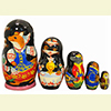 "Mitten Story Nesting Doll - 6"" w/ 5 Pieces"
