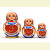 "I Love You Nesting Doll - 5"" w/ 3 Pieces"