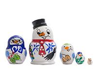 Mini Snowman Nesting Doll