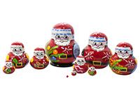 Mini Christmas Nesting Doll