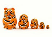 Mini Tiger Nesting Doll