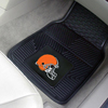 Heavy Duty Vinyl Car Mats - 2 Front - Cleveland Browns