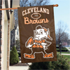 "Applique Banner Flag - 44"" x 28"" - Cleveland Browns - Brownie"