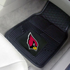 Heavy Duty Vinyl Car Mats - 2 Front - Arizona Cardinals