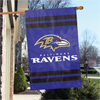 "Applique Banner Flag - 44"" x 28"" - Baltimore Ravens"