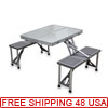 Folding Picnic Table w/ Seats - Aluminum