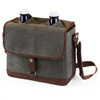 Double Growler Tote Set - Tote and 2 Glass Growlers