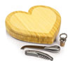 Heart Shaped Cheese Board w/ Tools