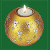 Gold Tea Light Candle Holder