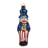 Uncle Sam Glass Ornament